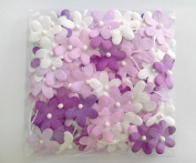 Purple Tone 100 Mulberry paper Blossom Flower Wedding Scrapbooking 2.0 cm.