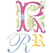 Initial R Stencil (size 17cm w x 22cm h) Reusable Stencils for Painting - Best Quality Letter Wall Art Décor Ideas - Use on Walls, Floors, Fabrics, Glass, Wood, Cards, and More...