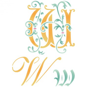 Initial W Stencil (size 17cm w x 22cm h) Reusable Stencils for Painting - Best Quality Letter Wall Art Décor Ideas - Use on Walls, Floors, Fabrics, Glass, Wood, Cards, and More...