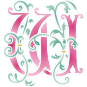 Monogram W Stencil (size 17cm w x 18cm h) Reusable Stencils for Painting - Best Quality Letter Wall Art Décor Ideas - Use on Walls, Floors, Fabrics, Glass, Wood, Cards, and More...