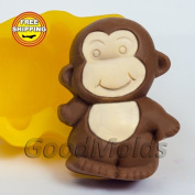 The Monkey 2 2d Soap Mould Food-grade Silicone Moulds Mould for Soap Christmas Mould Mould New Year Mould.