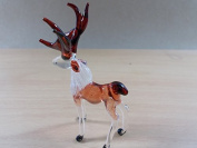 TINY CRYSTAL DEER HAND BLOWN CLEAR GLASS ART FIGURINE DECOR OCEAN COLLECTION NEW YEAR GIFT