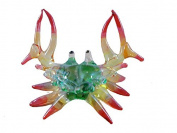 TINY CRYSTAL CRAB HAND BLOWN CLEAR GLASS ART FIGURINE DECOR OCEAN COLLECTION NEW YEAR GIFT