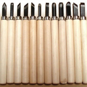 12 Pc Wood Carving Hand Woodworkers Tool Knife Chisel Set