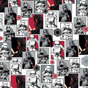 Disney Star Wars Fabric by Camelot Storm Trooper Collage Red