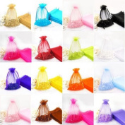 Dealglad® 100pc 13cm X 18cm Mixed Colour Jewellery Gift Organza Bag Candy Pouch Wedding favours