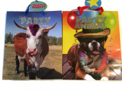 Party Animal-let's Party Gift Bag Bundle of 2 Adorable Animal-Themed Gift Bags