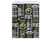 Bundleofbeauty 100 Chalkboard Wishes Print Paper Bags 15cm x 23cm Flat Merchandise Bags