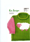 Roo Designs Child's Sheep Roll Neck Pullover Knitting Pattern
