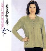 Trendsetter Yarns Lane Borgosesia Knitting Pattern JSS #22 Merino Sei Victoria Smock
