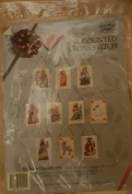 Counted Cross Stitch Nativity Ornaments Set of 10 Christmas Ornaments 10 Ornaments 7.6cm X 10cm