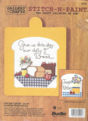 Our Daily Bread Counted Cross Stitch Kit Stitch 'N Paint 2 Projects in One