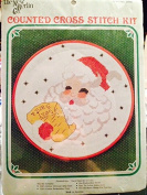 Santa Framed Cross Stitch Kit 18cm Round