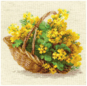 RIOLIS 14 Count Yellow Rapeseed Counted Cross Stitch Kit, 25cm x 25cm