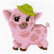 RIOLIS 10 Count Piglet Counted Cross Stitch Kit, 15cm x 15cm