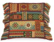 RIOLIS 10 Count Terra Cushion Counted Cross Stitch Kit, 40cm x 40cm