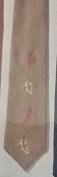Autumn Leaves Necktie Crewel Embroidery Kit - 7.6cm - 1.9cm Wide, 140cm Long