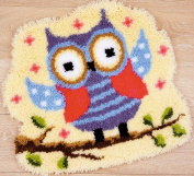 Vervaco Funny Owlet on a Branch Shaped Rug Latch Hook Kit, 50cm x 60cm