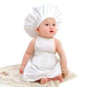 Feiuruhf Cute Baby White Cook Costume Photos Photography Prop Newborn Hat