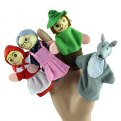 Lookatool® 4PCS/Set Little Red Riding Hood Christmas Animal Finger Puppet toy Educational Toys Storytelling Doll