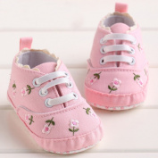 LiveBox Newborn Baby Girls' Cotton Premium Soft Sole Sneaker Infant Prewalker Toddler Shoes (S