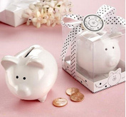 Aimeart Wedding Ceramic Piggy Bank Money Box Savings Bank Coin Bank White Pig