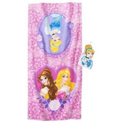 Disney. Princess Cinderella Bath Towel/Wash Mitt Set - Pink by jay franco