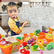 XDOBO Set Of 13 Cutting Fruits Cooking Playset for Kids with Cutting Board