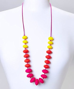 GUMEEZ LINNY ADULT NECKLACE -TROPICANA YELLOW RED PINK