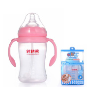 Lopkey Baby High Temperature Resistance Feeding Bottle With Straw