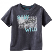 "Oshkosh Boys ""Stay Wild"" Glows in the Dark Tee; 6m; Grey"