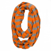 Itzy Ritzy Infinity Breast Feeding Scarf, Orange/Grey