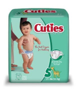First Qual 50013101 Baby Nappy Cuties Hook And Loop Fasteners Size 5 Disposable Heavy Absorbency Cr5001 Box Of 27 by First Qual