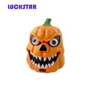 LUCKSTAR(TM) Halloween Party Masquerade Party Supplies Voice-activated Pumpkin Light Lamp Lantern with Terror Sound for Halloween Bar Decoration Prop