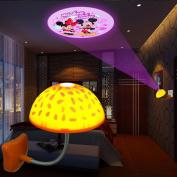 Pesp® 3d Bedroom Children Infant Kids Room Bar Hotel Ceiling Roof Mushroom LED Projection Light Night Light