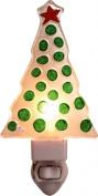 Green Polka Dot 17cm Light-up Glass Christmas Night Light