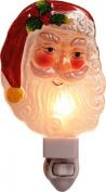 Santa Claus Face 17cm Light-up Glass Christmas Night Light