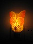 A.Shine Orange Butterfly Ceramic NightLights, Baby Night-Light, Home Decor Bedroom Wall Lamp