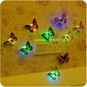 2pc Rainbow Colour Party LED Luminous Easter Butterfly Flash Night Lights Gift Pascua Décor