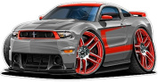 """Ford Mustang Boss 302 Laguna Seca Edition by Fatcat Wall Graphics & Decals 1.2m long 60cm x 48"""""""