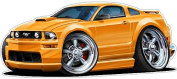 Ford Wall Graphic 2005-2009 Mustang Large 1.2m Long Decal Garage Art Cling Boys Room Decor