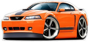 """Ford Shop Wall & Home Decor 1999-2004 Mustang Mach1 Large 60cm x 48"""" (1.2m Long) Wall Graphic Decal Sticker Man Cave Garage Decor Boys Room Decor"""
