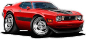 """Ford Shop Wall & Home Decor 1973 Mustang Mach1 Large 60cm x 48"""" (1.2m Long) Wall Graphic Decal Sticker Man Cave Garage Decor Boys Room Decor"""