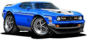 """Ford Shop Wall & Home Decor 1971-2 Mustang Mach1 Large 60cm x 48"""" (1.2m Long) Wall Graphic Decal Sticker Man Cave Garage Decor Boys Room Decor"""