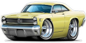 """Ford Shop Wall & Home Decor 1967 Mercury Comet Large 60cm x 48"""" (1.2m Long) Wall Graphic Decal Sticker Man Cave Garage Decor Boys Room Decor"""