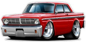 """Ford Shop Wall & Home Decor 1965 Falcon Large 60cm x 48"""" (1.2m Long) Wall Graphic Decal Sticker Man Cave Garage Decor Boys Room Decor"""