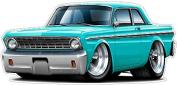 "Ford Garage Graphics & Decor 1964 Falcon Large 60cm x 48"" (1.2m Long) Wall Graphic Decal Sticker Man Cave Garage Decor Boys Room Decor"