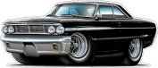 1964 Ford Galaxie 390 Large 1.2m Long Wall Graphic Decal Sticker Man Cave Garage Decor Boys Room Decor