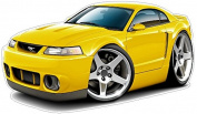1999-2004 Ford Mustang SVT Cobra Large 1.2m Tall Wall Graphic Decal Sticker Man Cave Garage Decor Boys Room Decor