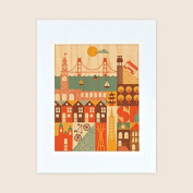 Petit Collage Unframed Print on Wood Wall Decor, San Francisco, Small